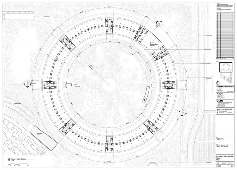 Foster Partners Apple Campus 2 Drawing Map